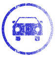 car grunge textured icon vector image vector image