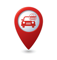 car with shop basket icon on red pointer vector image vector image
