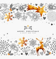 christmas and new year gold decoration card vector image