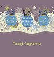 christmas seasonal decorations background cute vector image