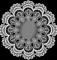circular pattern with flowers from lace vector image vector image