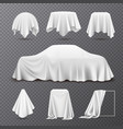 cloth covered objects transparent set vector image
