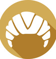 Croissant Icon vector image vector image