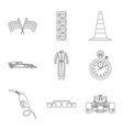 design of car and rally logo collection of vector image vector image