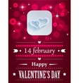 Design with hearts and flares for valentines day vector image vector image