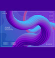 double dynamic wavy fluid gradient abstract vector image vector image