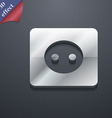 Electric plug Power energy icon symbol 3D style vector image