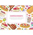 european desserts banner template bakery shop