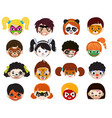 face paint kids children portrait with vector image