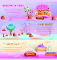 fairy tale candy land banners vector image