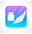 feather and ink icon vector image
