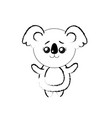 figure cute koala wild animal with face expression vector image vector image