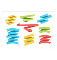 flat colorful ribbon banner set graphic vector image vector image