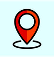 flat location icon vector image vector image