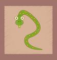 flat shading style icon kids snake vector image vector image