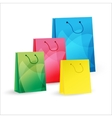 four shopping bags vector image vector image