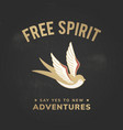 free spirit bird advertisement design vector image vector image