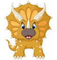 funny Triceratops cartoon look at camera vector image vector image