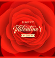 happy valentines day message red rose vector image vector image