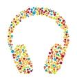 headphones consist dots vector image