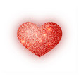 heart red glitter isoleted on white background vector image vector image