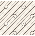Hearts stripped geometric seamless pattern vector image vector image