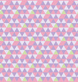 hexagon from triangles seamless pattern vector image vector image