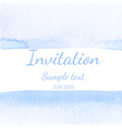 Invitation with watercolor background vector image vector image