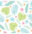 light tropical summer hawaiian seamless vector image