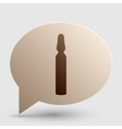 Medical ampoule sign Brown gradient icon on vector image vector image