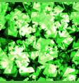 metallic green glowing dark golden stars on a vector image vector image