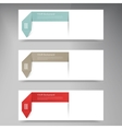 Modern business origami style options banner vector image vector image