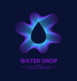 modern line logo of the water drop vector image