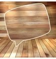 Natural wood texture speech bubbles EPS 10 vector image vector image