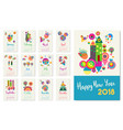 new year 2018 happy geometric abstract color art vector image vector image