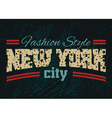 New York city Fashion style denim 1 vector image