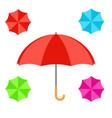 open colorful umbrella flat design icon vector image vector image