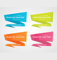 origami speech bubbles vector image vector image