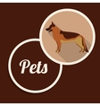pet dog design vector image vector image
