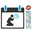 Pray Time Calendar Day Icon With Bonus vector image vector image