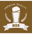 premium quality beer label vector image