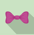 purple bow tie icon flat style vector image vector image
