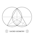 sacred geometry construction symbol vector image vector image