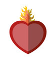 sacred heart icon vector image vector image