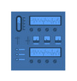 scientific equipment stand icon vector image vector image