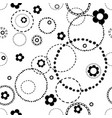 seamless light pattern with doodles vector image