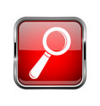 search or find icon square red 3d icon with vector image
