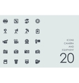 set camera and equipment icons vector image vector image
