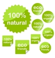 Set of sticky eco web icons vector image vector image