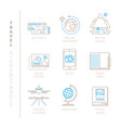 set of travel icons and concepts in mono thin vector image vector image
